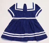 BABY GIRLS TRADITIONAL SAILOR DRESS NAVY WHITE NAUTICAL ANCHOR 0 3 6 9 MONTHS
